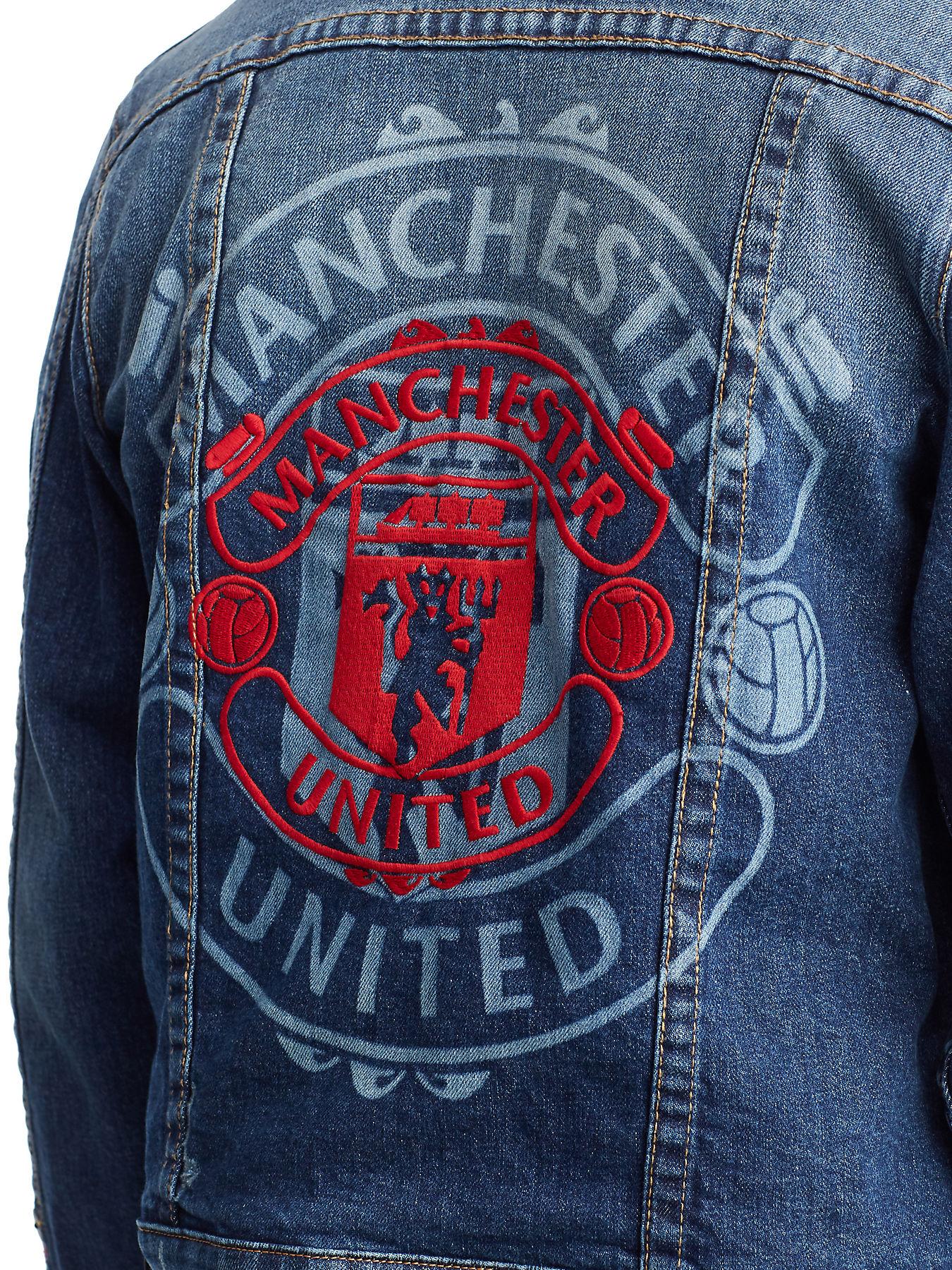 Mens Tr X Manchester United Embroidered Denim Jacket