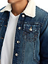 MENS SHERPA COLLAR DENIM JACKET