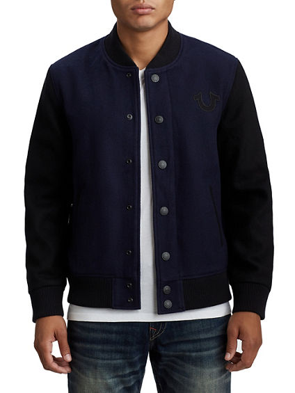 MENS BLOCK STACK VARSITY JACKET