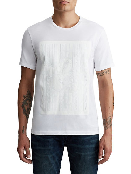MENS TONAL STACKED LOGO TEE