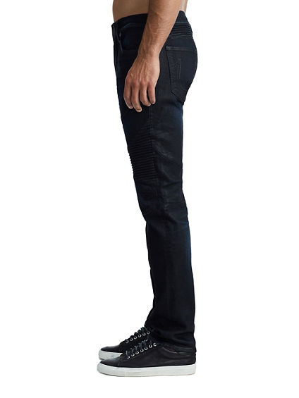MENS STRETCH MOTO GENO SLIM JEAN