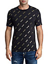 MENS METALLIC MONOGRAM LOGO GRAPHIC TEE