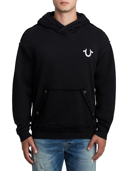 MENS EMBROIDERED PULLOVER HOODIE