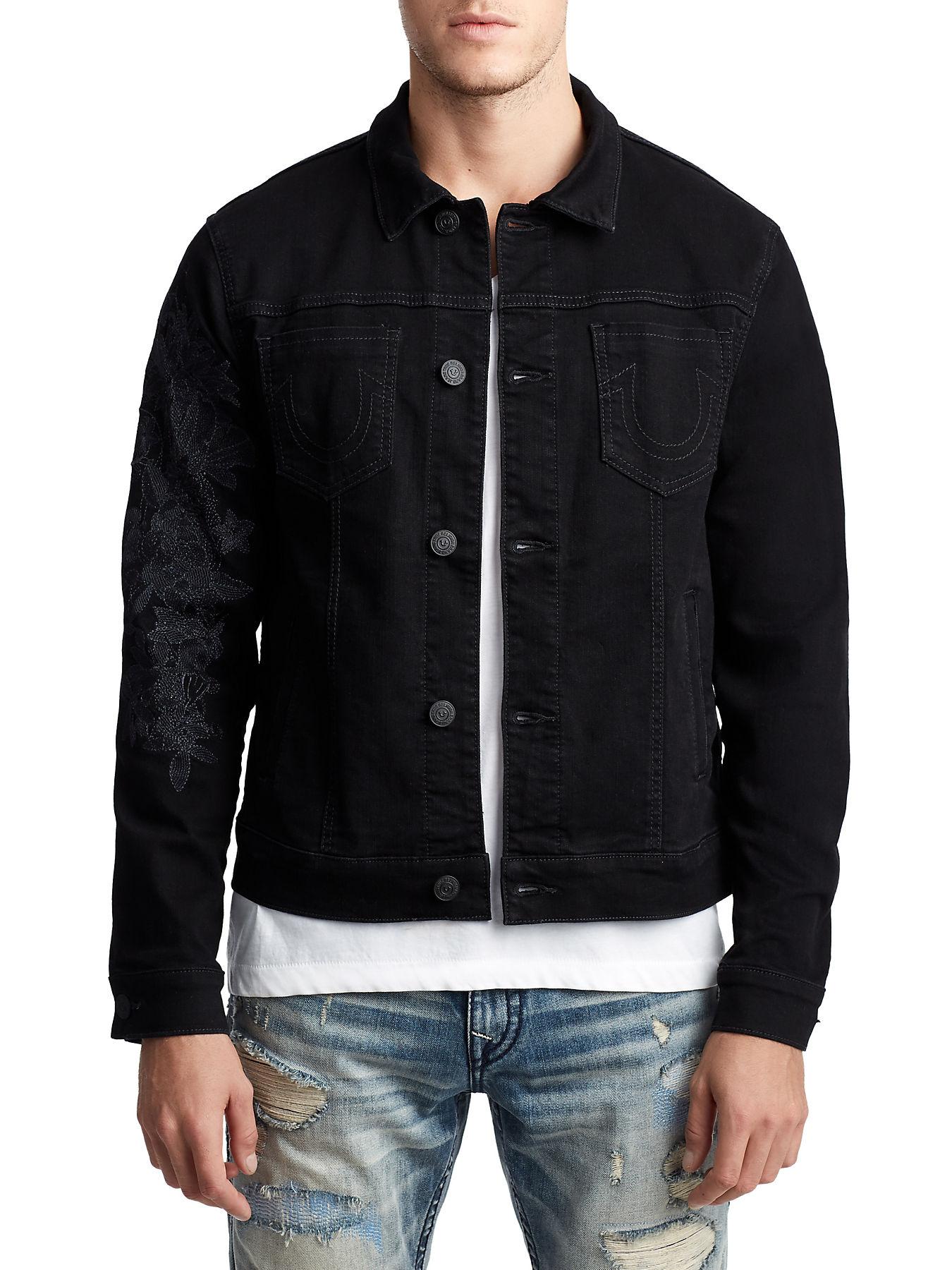 Mens Embroidered Danny Denim Jacket