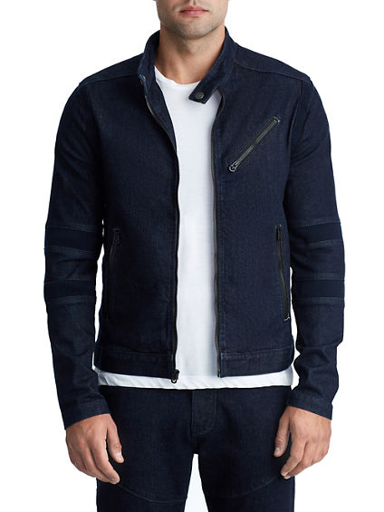 MENS DENIM MOTO JACKET