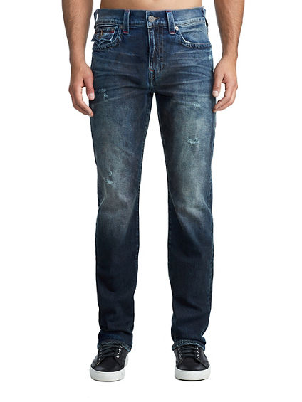 MENS CONTRAST STITCH RICKY STRAIGHT JEAN W/ FLAP