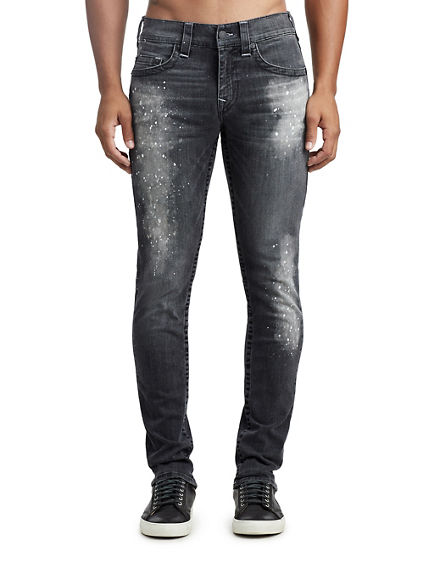 MENS PAINT SPLATTER SKINNY JEAN