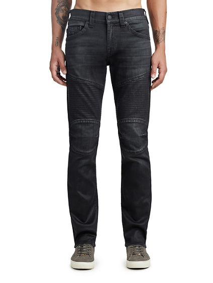 MENS COATED MOTO SKINNY JEAN