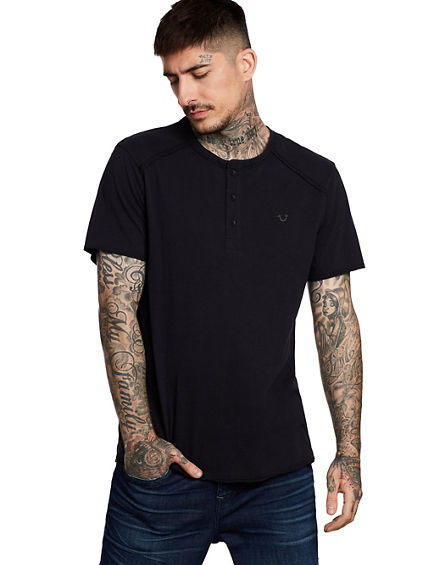 RAW EDGE HENLEY TEE