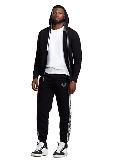 MENS MESH PANEL FULL ZIP HOODIE