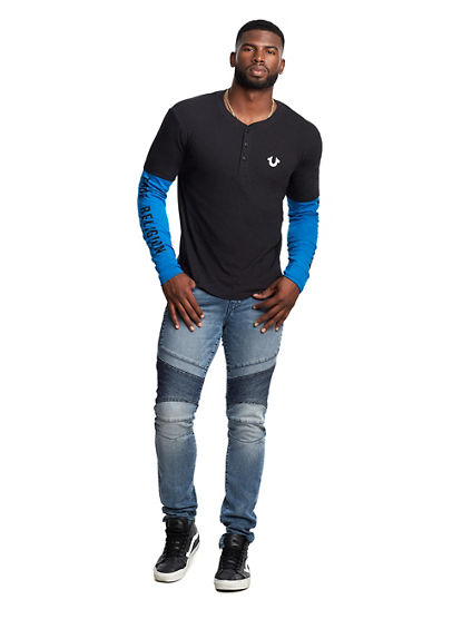 LAYERED LONG SLEEVE HENLEY