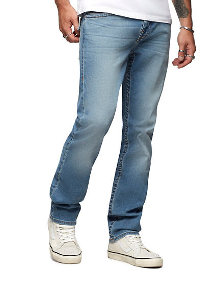 MENS MULTI STITCH SLIM JEAN W/ FLAP