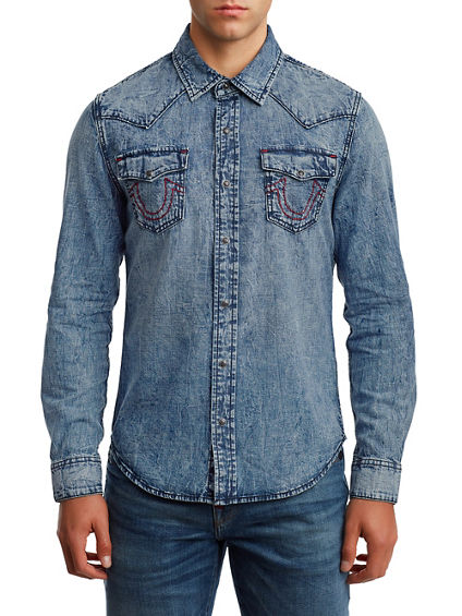 MENS TR X MANCHESTER UNITED WESTERN DENIM SHIRT
