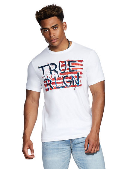 TRUE PAINTED FLAG TEE