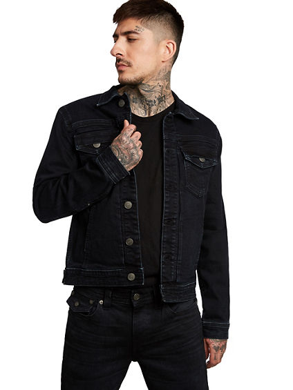 DYLAN DOUBLE FLAP  DENIM JACKET