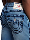 MENS RICKY STRAIGHT SUPER T JEAN SHORT W/ FLAP