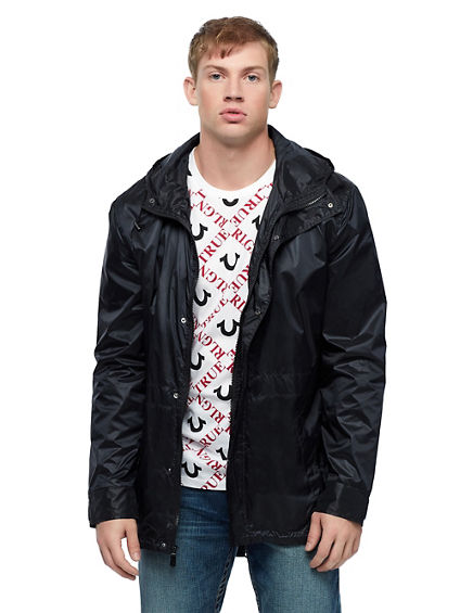NYLON HOODED WINDBREAKER
