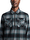 ZIP FLANNEL SHIRT