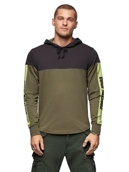 HOODED LONG SLEEVE SHIRT