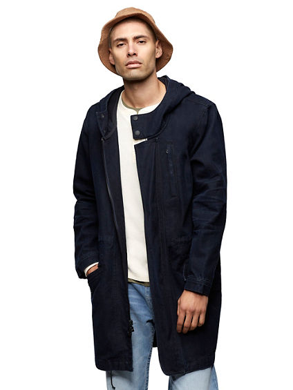 DENIM UTILITY PARKA