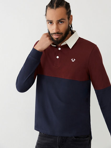 COLOR BLOCK RUGBY SHIRT