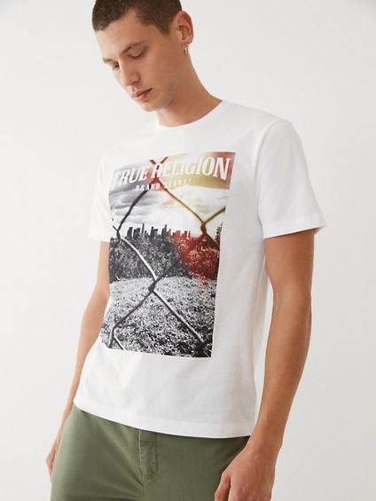 FENCED GRAPHIC TEE