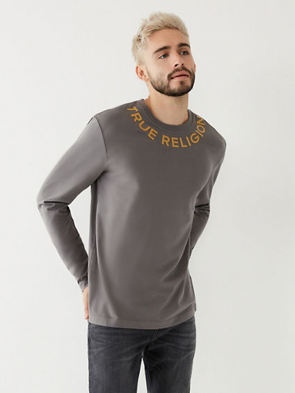 LOGO NECK LONG SLEEVE TEE
