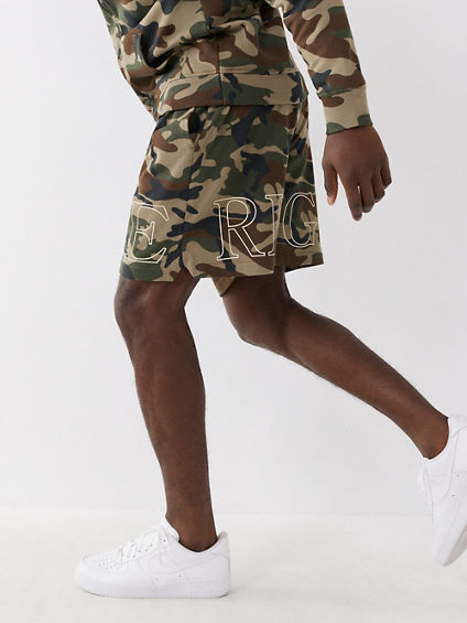 TRUE CAMO SWEAT SHORT
