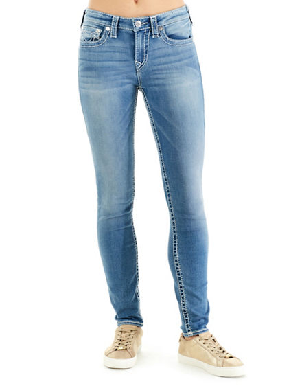 WOMEN'S CURVY SKINNY FIT BIG T  JEAN