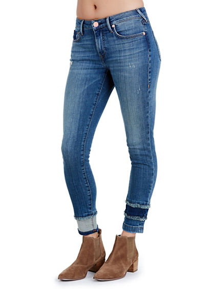 JENNIE CURVY SKINNY SHADOW HEM WOMENS JEAN