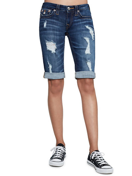 DISTRESSED FOLDED BERMUDA SHORT