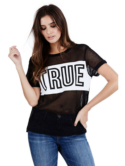 HIGH DENSITY TRUE MESH WOMENS TEE