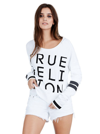 WOMENS EMBROIDERED TRUE PULLOVER