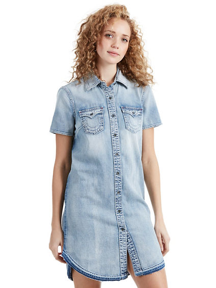DENIM BASEBALL DRESS