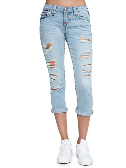 DISTRESSED ROLLED CAPRI