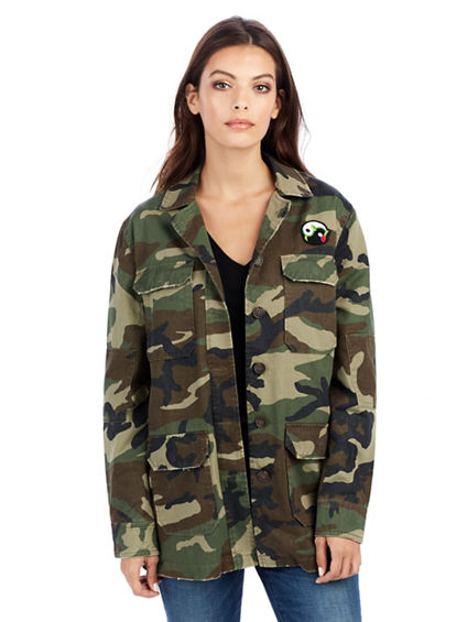 WOMENS EAST PEACOCK MILITARY CAMO JACKET