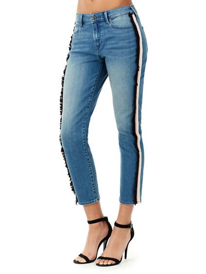 RIBBON COLETTE HIGH RISE SKINNY WOMENS JEAN