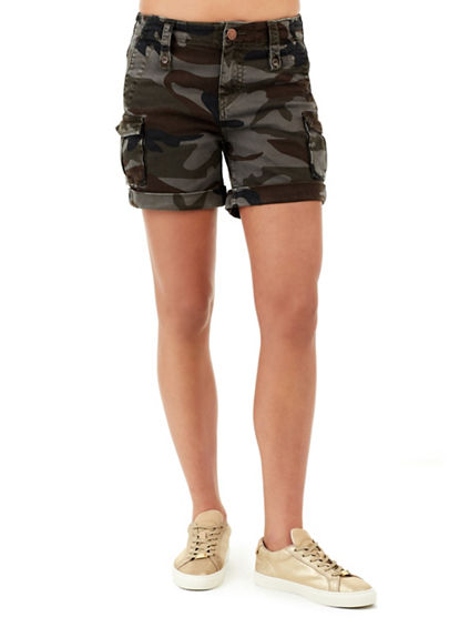 JENNIE HIGH RISE WOMENS CARGO SHORT | Tuggl