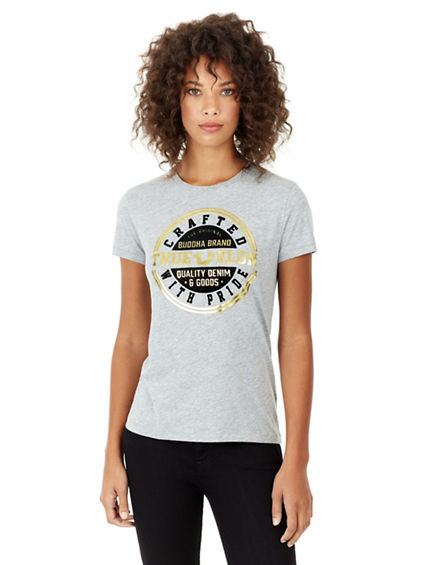 WOMENS  CRAFTED WITH PRIDE TEE