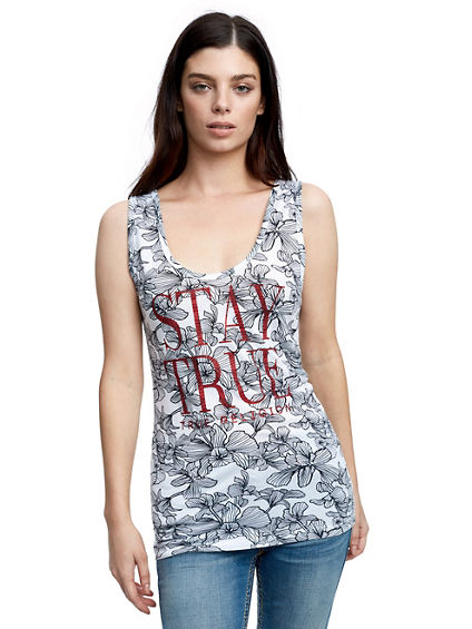 CRYSTAL STAY TRUE RIB TANK