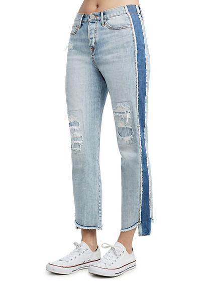 STARR CROP HIGH RISE WOMENS JEAN