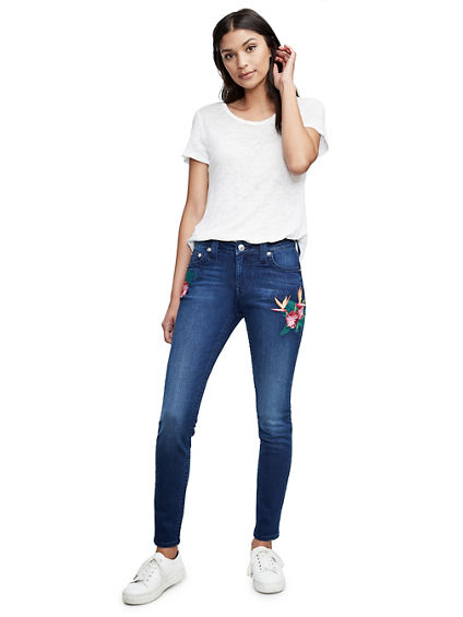 CURVY FIT EMBROIDERY STITCH JEAN