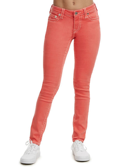 CURVY FIT BIG T COLORED DENIM