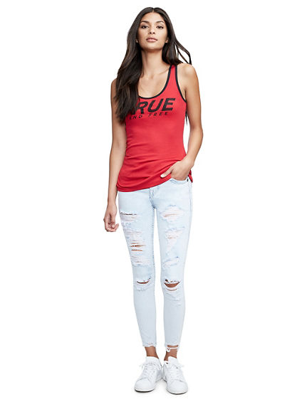 ANKLE SUPER SKINNY FIT DISTRESSED JEAN