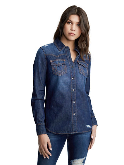 GEORGIA WESTERN DENIM SHIRT