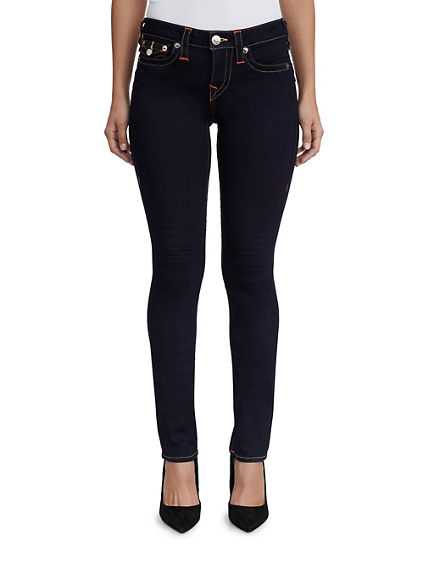 WOMENS STRAIGHT CONTOUR JEAN W/ FLAP