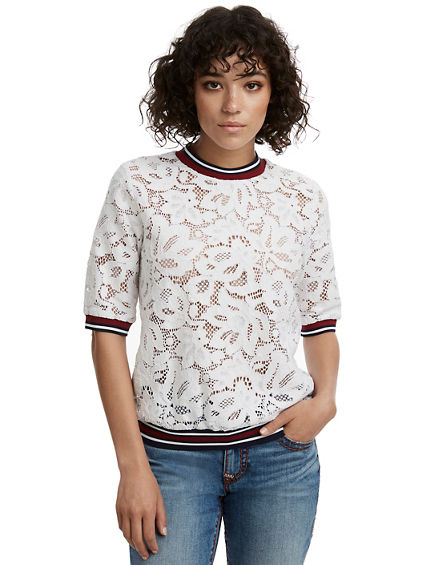 LACE WOMENS TOP