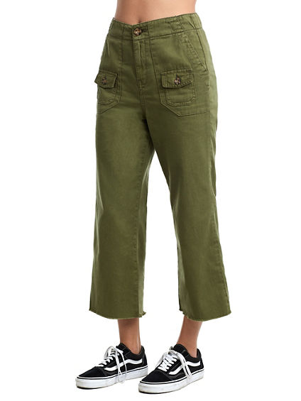 WOMENS HIGH RISE UTILITY CULOTTE PANT