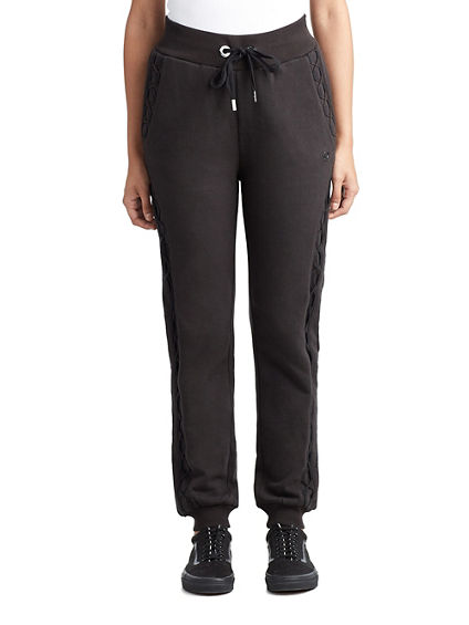 WOMENS LATTICE LACE UP JOGGER