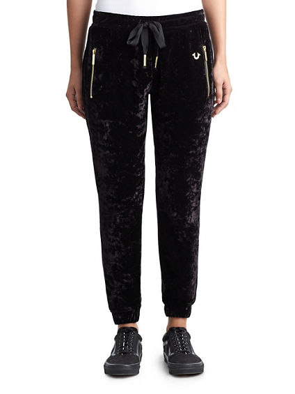 WOMENS CRUSHED VELVET JOGGER